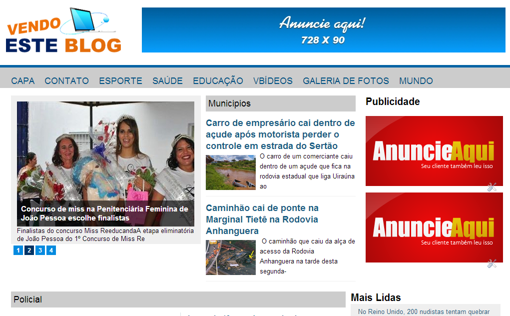 20 Cool & Unique Blog Templates from Brazil