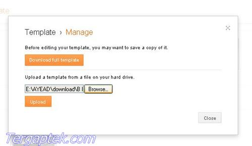 how to upload blogger theme