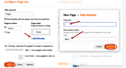 How to Show Blog Static Page Menu