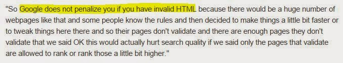 Effect of Valid HTML Blog Template on SEO & Google Index