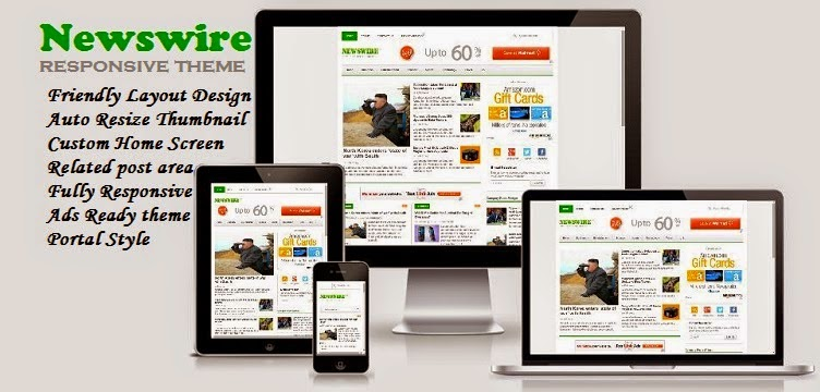 Newswire - Responsive Blogger Template for News Blog