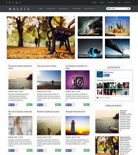 SEO, Cool and Responsive Photo Blog Template